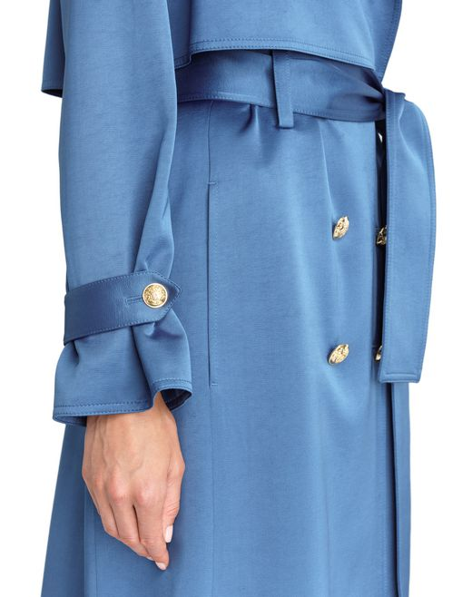 lanvin satin trench coat women