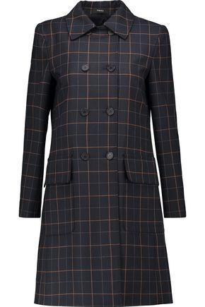 THEORY Abla checked twill coat