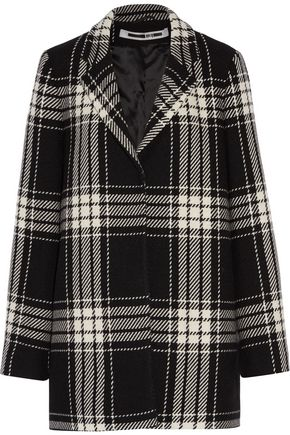 McQ Alexander McQueen Checked wool-blend coat