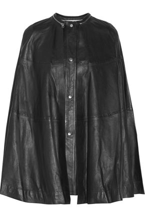 McQ Alexander McQueen Convertible pleated leather cape