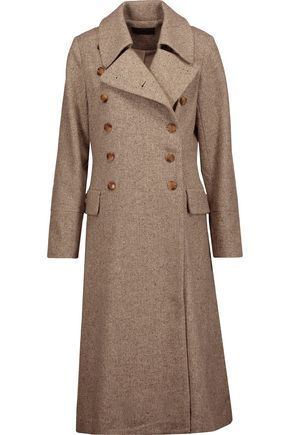 CO Double-breasted wool-tweed coat