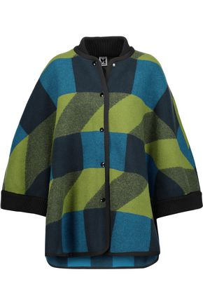M MISSONI Intarsia-knit wool coat