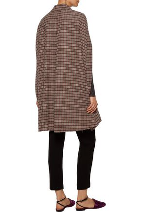 MSGM Houndstooth knitted cape