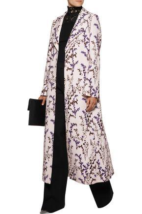 GIAMBATTISTA VALLI Floral-print crepe coat