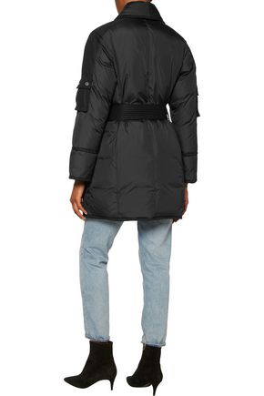 MARC BY MARC JACOBS Blanket herringbone twill-paneled padded shell coat