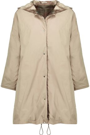 MAX MARA Reversible printed satin hooded coat