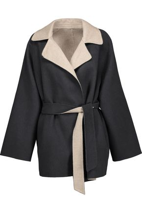 MAX MARA Two-tone wool and angora-blend felt coat