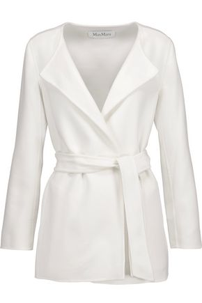 MAX MARA Belted wool and angora-blend felt coat