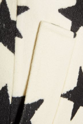 MAX MARA Intarsia wool and angora-blend felt coat