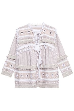 DODO BAR OR Embellished herringbone cotton jacket
