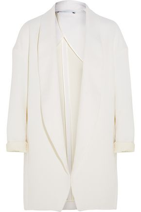 ROSETTA GETTY Wool, cotton and silk-blend twill coat