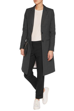 JOSEPH Striped cotton-twill coat