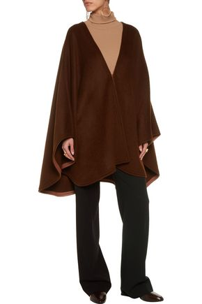 JOSEPH Oslo leather-trimmed wool and cashmere-blend cape