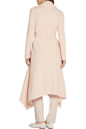 OSCAR DE LA RENTA Asymmetric wool-crepe coat