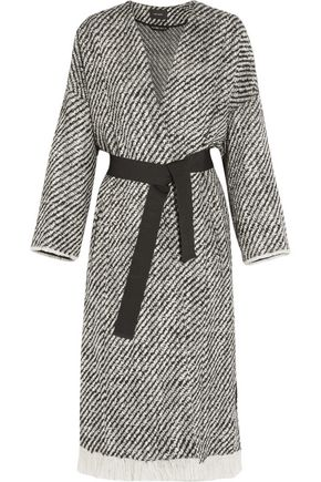 ISABEL MARANT Iban fringed wool-blend tweed coat