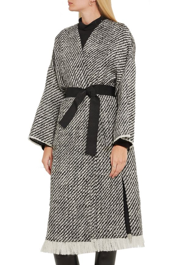 Iban fringed wool-blend tweed coat | ISABEL MARANT | Sale up to 70% off |  THE OUTNET