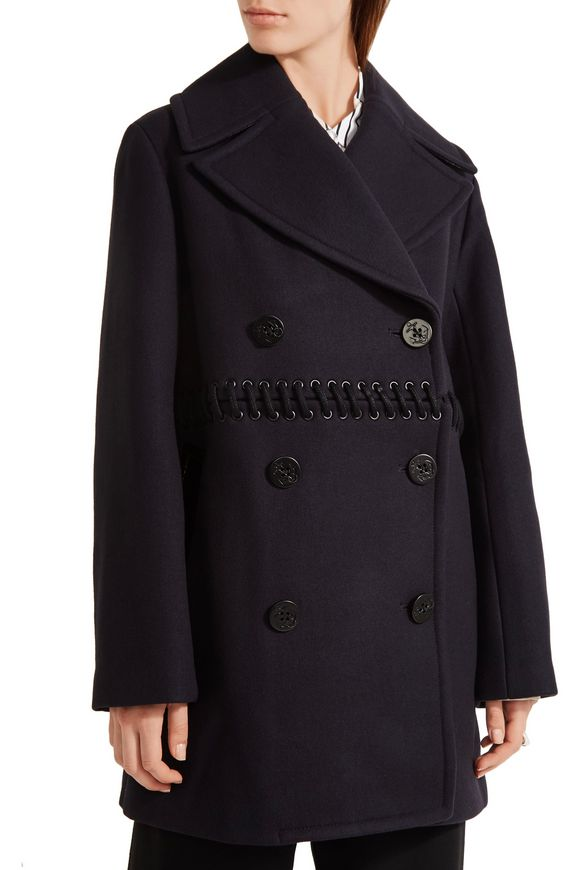 Whipstitched wool-blend peacoat | 3.1 PHILLIP LIM | Sale up to 70% off |  THE OUTNET