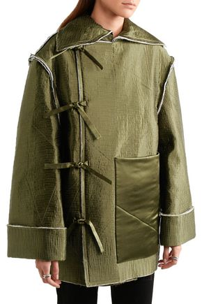 J.W.ANDERSON Quilted silk-satin coat