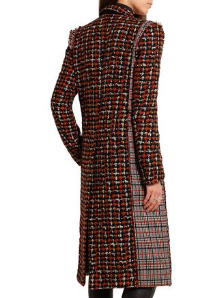 HAIDER ACKERMANN Paneled wool-blend tweed coat