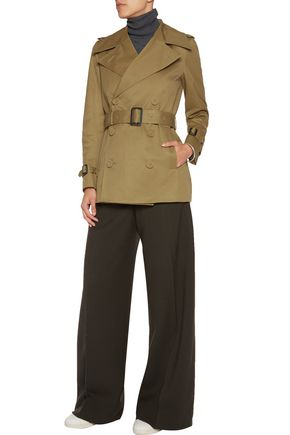 JOSEPH Townie belted cotton-twill trench coat