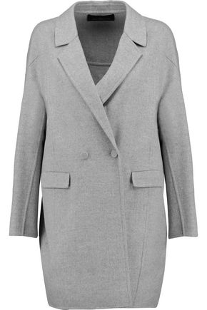 PRINGLE OF SCOTLAND Wool and cashmere-blend felt coat