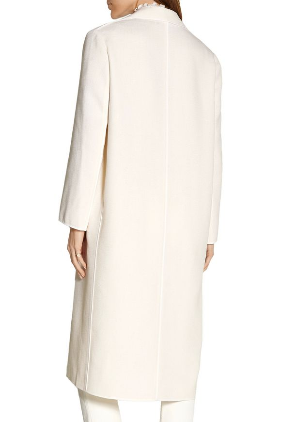 Silk-trimmed wool-blend coat | NINA RICCI | Sale up to 70% off | THE OUTNET