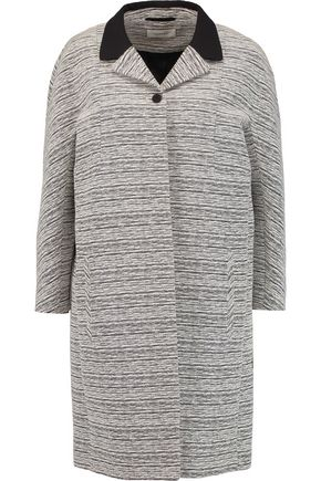 CARVEN Crepe-trimmed two-tone bouclé coat