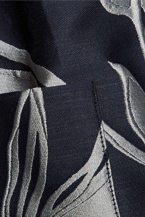 SUNO Metallic jacquard coat