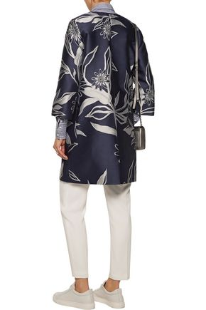 SUNO Metallic jacquard coat