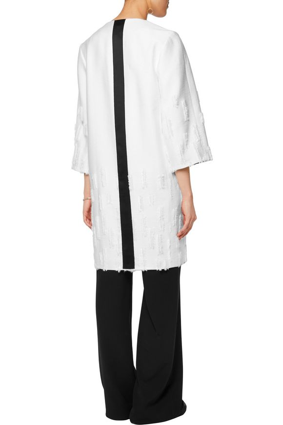 Satin-trimmed distressed crepe coat | AMANDA WAKELEY | Sale up to 70% off |  THE OUTNET