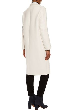 MAJE Manteau cotton and linen-blend twill coat
