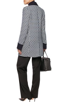 GOAT Channing houndstooth wool-blend coat
