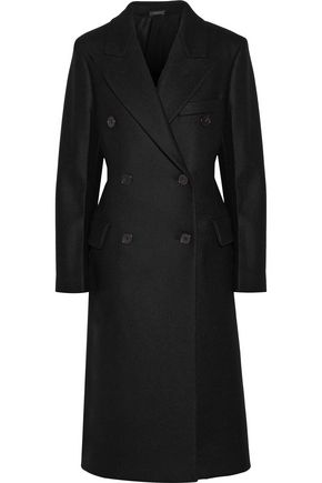 JIL SANDER Double-breasted wool-blend felt coat