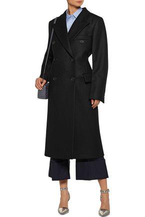 JIL SANDER Double-breasted wool-blend felt coat
