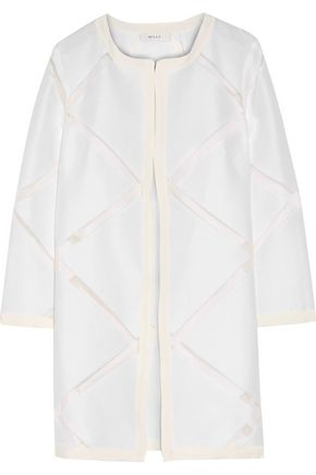 MILLY Fil coupé cotton and silk-blend coat