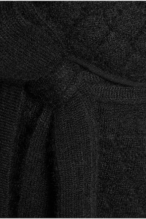 BALMAIN Quilted mohair-blend coat