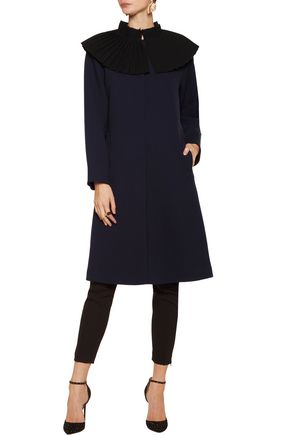 MERCHANT ARCHIVE Pleated wool-crepe coat