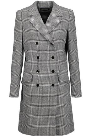 VANESSA SEWARD Double-breasted Glen plaid wool-blend coat
