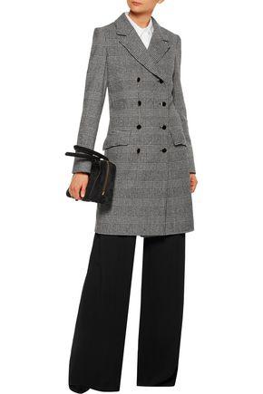 VANESSA SEWARD Double-breasted Glen plaid wool-blend coat