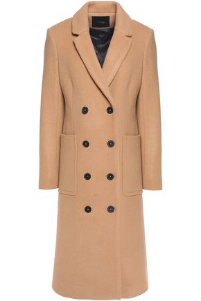 MAJE Double breasted wool-blend coat