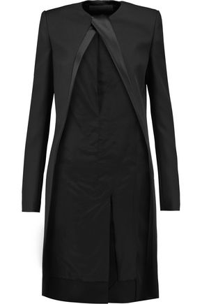 HAIDER ACKERMANN Satin-trimmed wool-twill coat