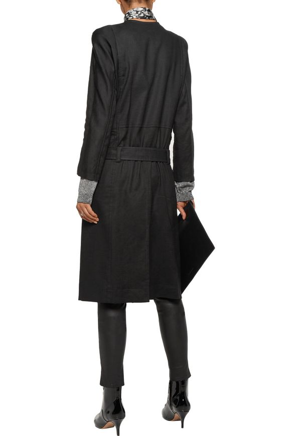 Linen-blend twill trench coat | HAIDER ACKERMANN | Sale up to 70% off | THE  OUTNET