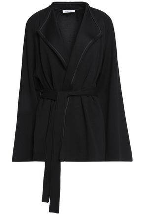 HELMUT LANG Belted waffle-knit wool jacket