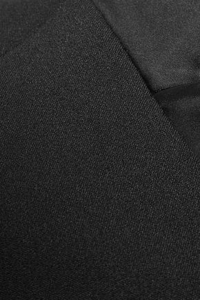 SAFIYAA Satin-trimmed crepe cape