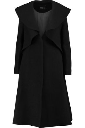 GOEN.J Belted wool coat