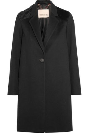 KARL DONOGHUE Shearling-paneled merino wool coat