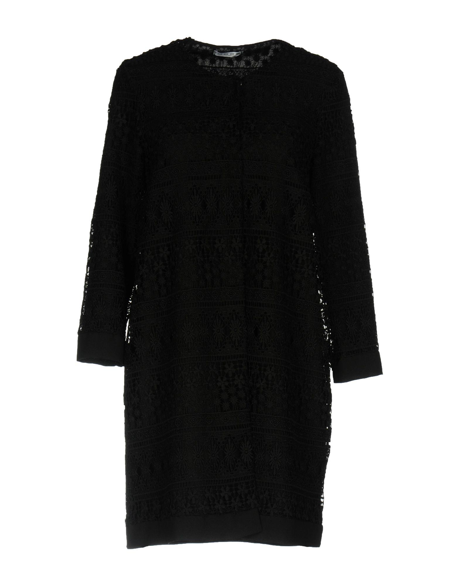 HOPE COLLECTION Damen Lange Jacke Farbe Schwarz Größe 5