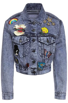ALICE + OLIVIA Embellished denim jacket