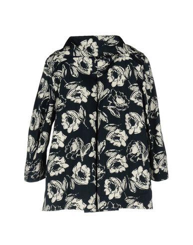 Фото 2 - Легкое пальто от ESEMPLARE темно-синего цвета