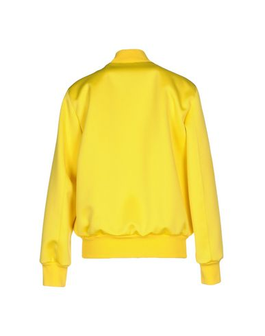 Фото 2 - Женскую куртку MSGM желтого цвета